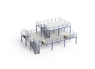 Платформы и мезонины для склада