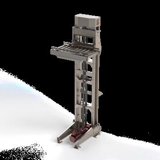 Вертикальный конвейер для ящиков