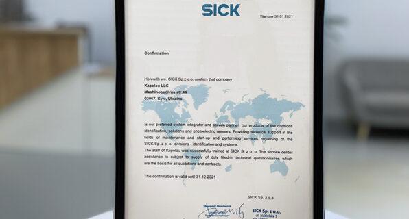 SICK Partner Certificate 2021 is already in the KAPELOU office - 7 - kapelou.com