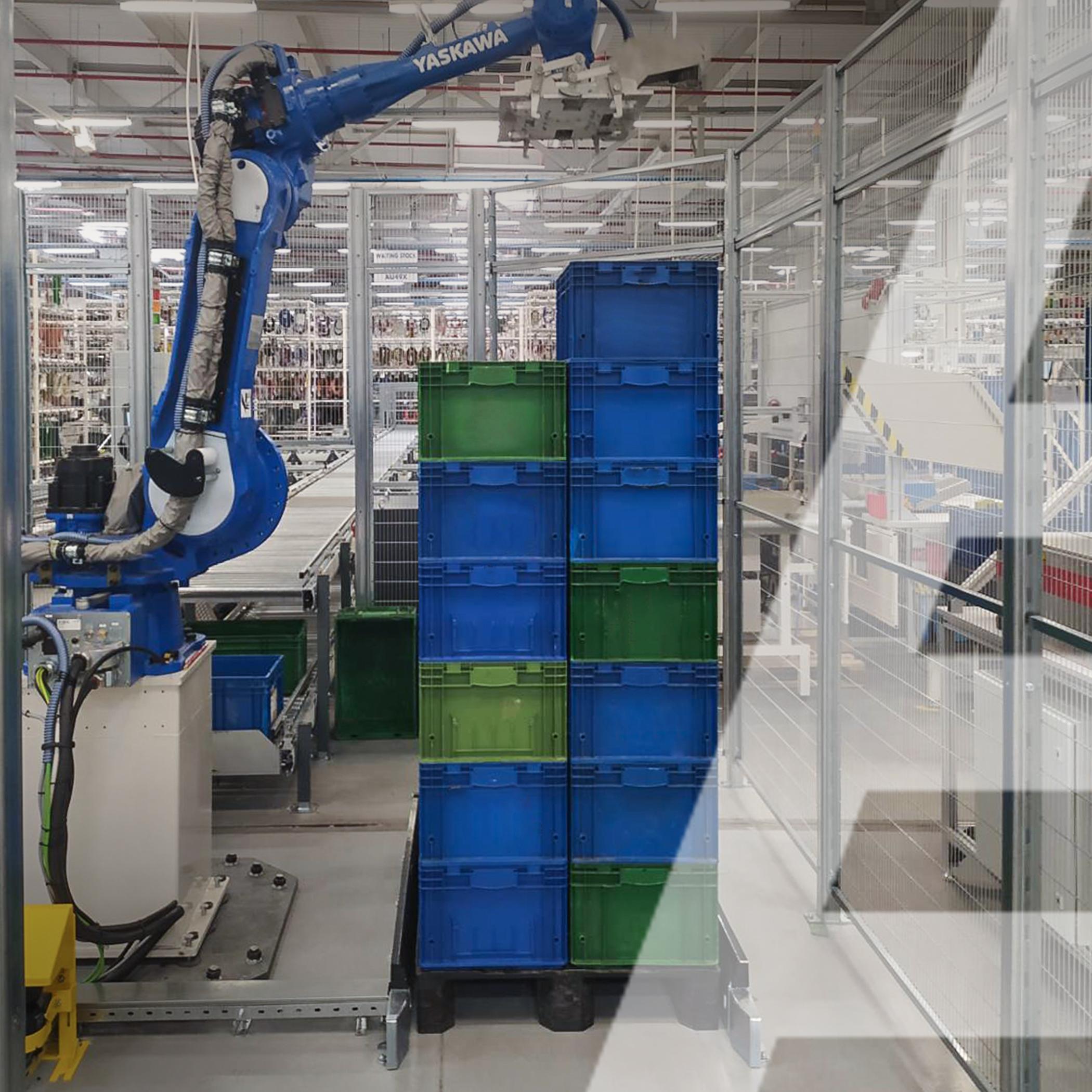 Автоматизированная двухуровневая конвейерная система и робот-манипулятор - 0 - kapelou.com